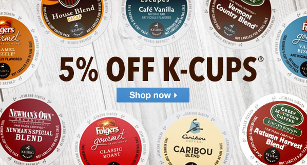 5% Off K-Cups