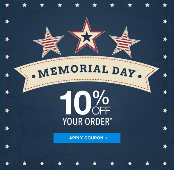 10% Off Memorial Day
