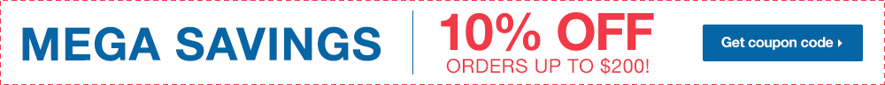 Mega Savings - 10% Off Your Order