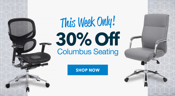 This Week Only! 30% Off Columbus Seating
