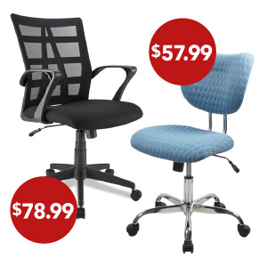 Office Chairs Starting at $57.99