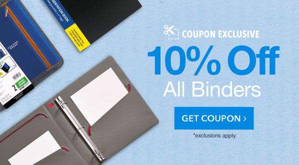 10% Off Binders