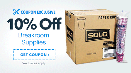 10% Off Breakroom Supplies