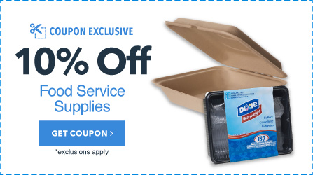 10% Off up to $150 in Food Service Supplies
