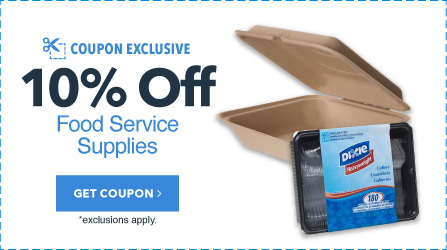 10% Off Up to $150 Spent in Food Service Supplies