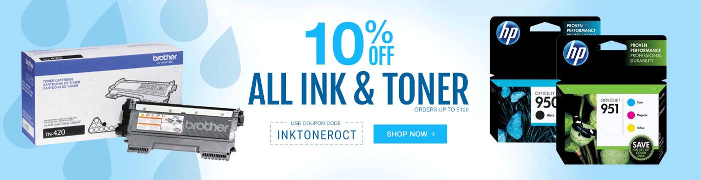 10% Off All Ink & Toner