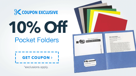 10% Off Pocket Folders