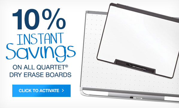 10 Off Quartet Dry Erase Boards
