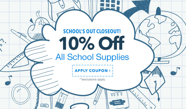 10% Off School Supplies