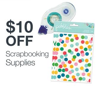 $10 off Scrapbooking Supplies