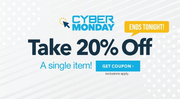 CYBER MONDAY: 20% Off A Single Item