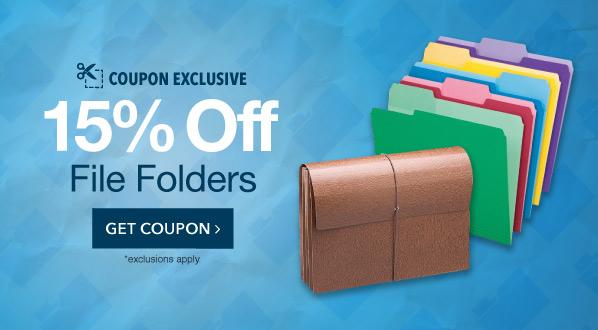 15% Off File Folders