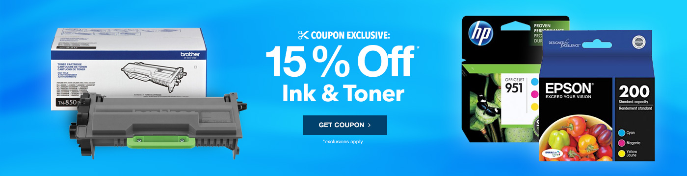 15% Off Ink & Toner