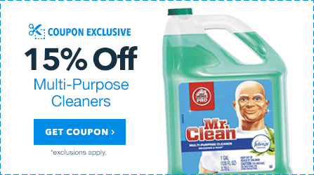 15% OFF Multi-Purpose Cleaners