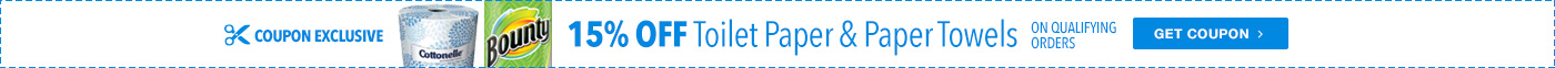 15% Off Toilet Paper and Paper Towel