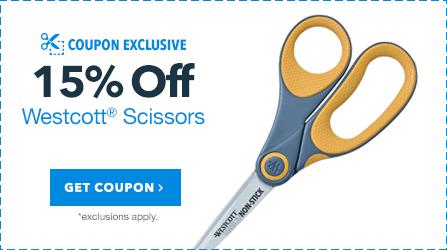 15% Off Westcott Scissors