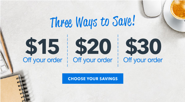 $15, $20, $30 Off Your Order