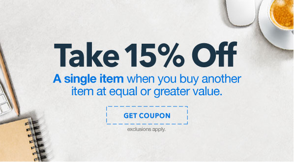 Buy 1 Item, Get 15% Off a Second Item up to $50 spent
