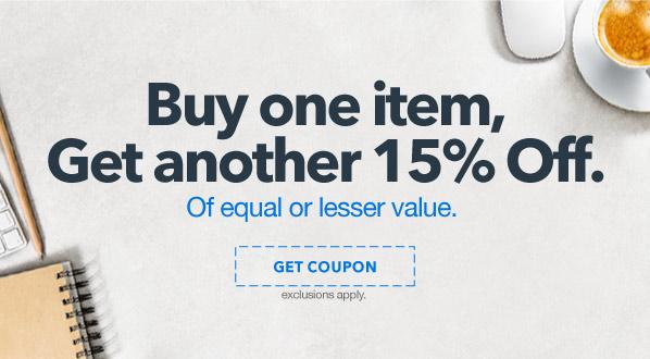 Buy One Item, Get 15% off Second Item