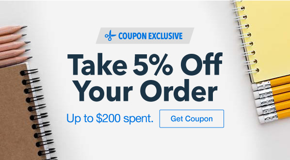 Take 5% Off up to $200 spent
