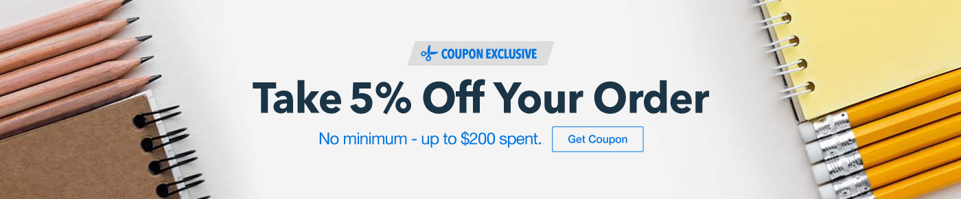 Take 5% Off Your Order up to $200 spent!