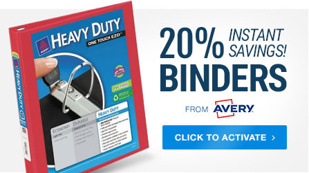 20% Off Avery Binders