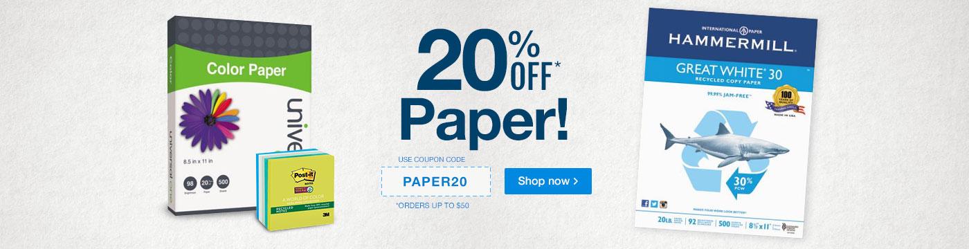 20% Off Paper