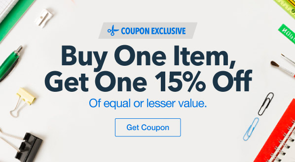 Buy One Item, Get One 15% Off