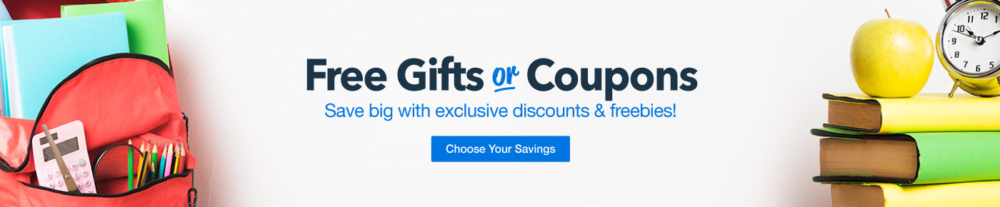 Back to School Free Gifts or Coupons