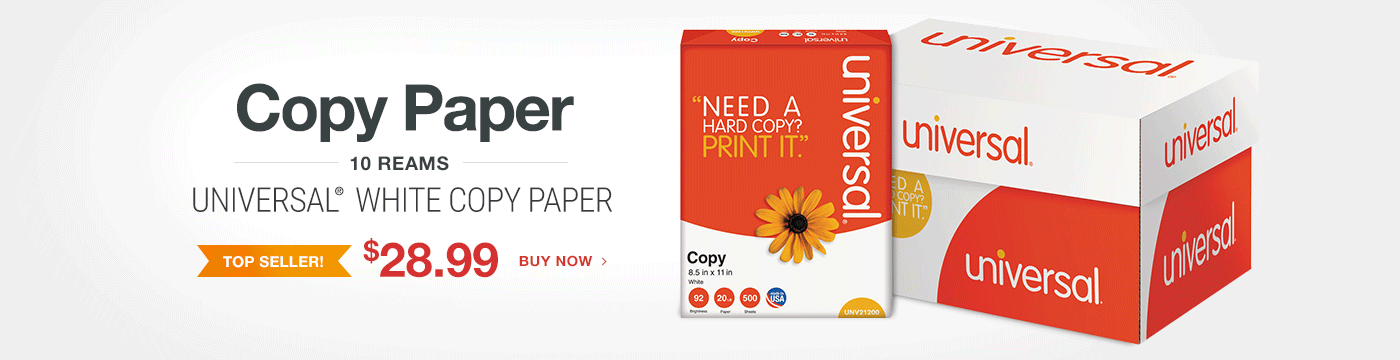 Paper Sale - Universal White Copy Paper - $28.99