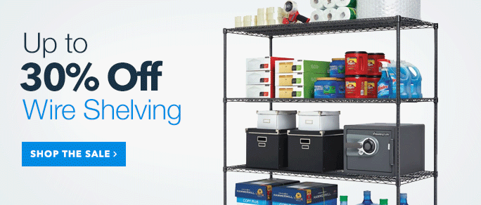 30% Off Wire Shelving