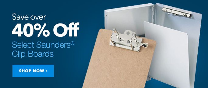 40% Off Saunders Clipboards