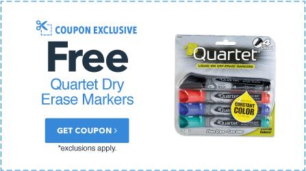 Free Quartet Dry Erase Markers