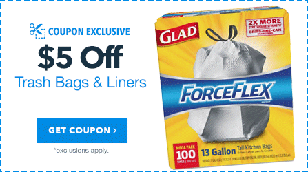 $5 Off Trash Bags