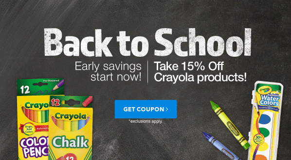 Back To School: Take 15% off up to $25 on Crayola