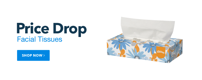 Price Drop on Facial Tissues