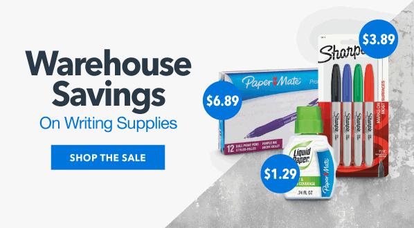 Warehouse Savings on Writing Supplies & More!