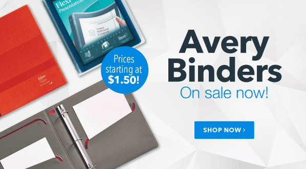 Avery Binders on Sale