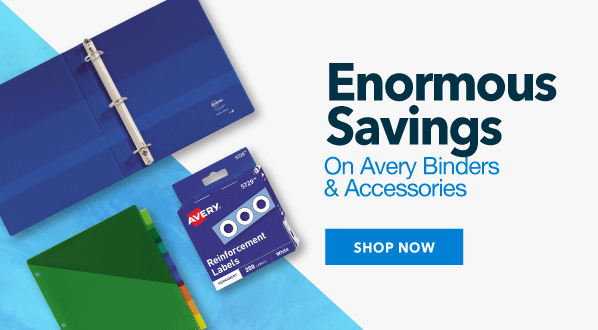 Enormous savings on Avery Binders and Accessories