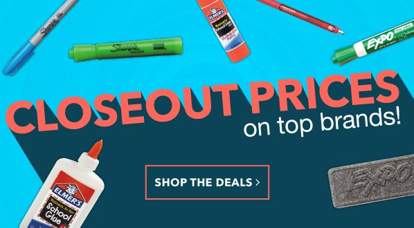 Closeout Prices on Top Brands