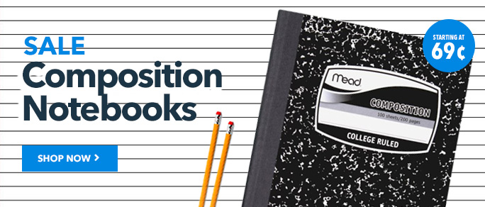 Composition Notebooks on Sale