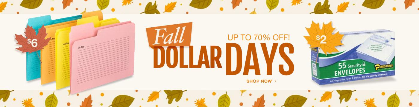 Fall Dollar Days
