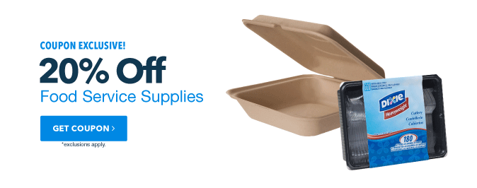 20% Off Food Service Supplies