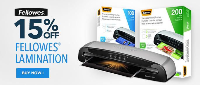 Fellowes Lamination 15% Off
