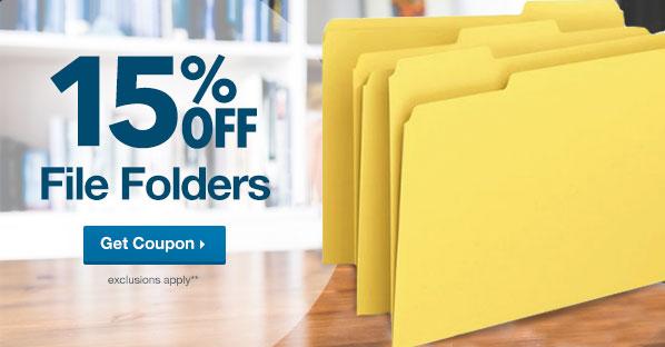 15% Off Folders