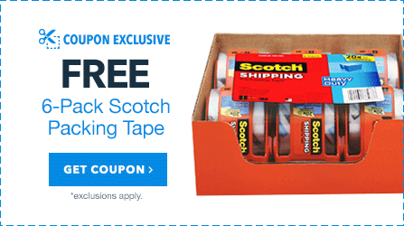 Free 6 Pack of Scotch Packing Tape
