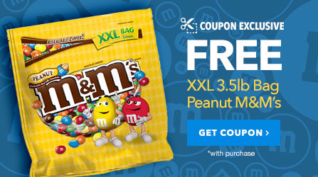 Free Bag Peanut M&M's