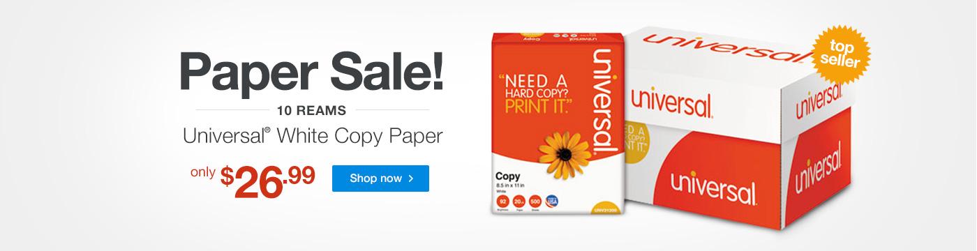 Paper Sale - Universal White Copy Paper - $26.99
