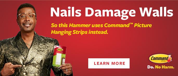 Nails Damage Walls - Command Sale