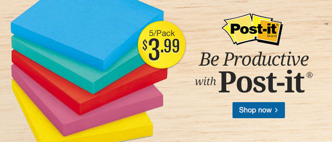 Post-it 5 Pack - $3.99